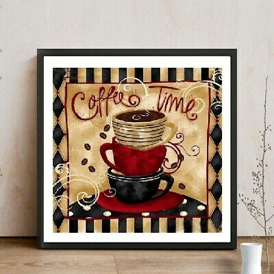 AU Coffee Time Full Drill 5D Diamond Painting Embroidery Cross Stitch Kit HN
