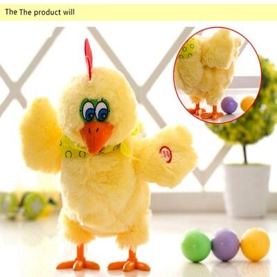 Kids Soft Sound Piush Toys Funny Toy Can Egg Laying Singing Dancing Chicken AU