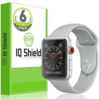 6 Pack Full Cover HD Clear iWatch Screen Protector Film For 38mm Apple Watch 3