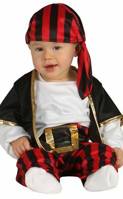 Kids Baby Toddler Pirate Buccaneer Shipmate Fancy Dress Costume Outfit Book Week
