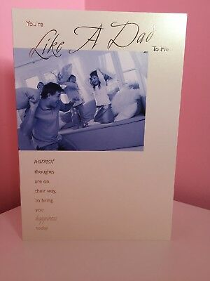 Step Dad Father Birthday Card Youre Like A Dad To Me 099