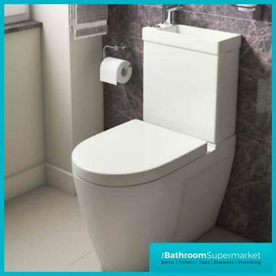 2in1 Combo Combination Toilet U0026 Sink Together Wash Basin Bathroom WC Space  Unit