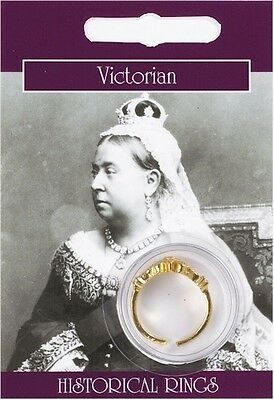 Victorian Gold Plated Ring - Fancy Dress Ladies Decorative Vintage