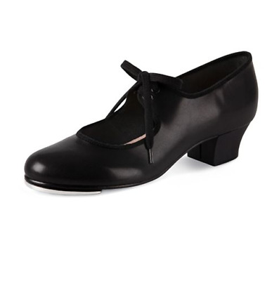 Black bloch Raven cuban heel tap shoes - size UK 7.5