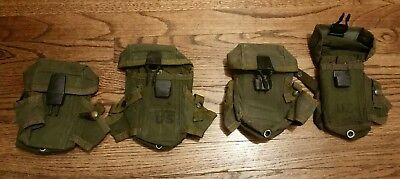 Lot of 4 US Military Army USMC OD Ammo Case Pouch LC1 Alice 3 Mag Pouch used