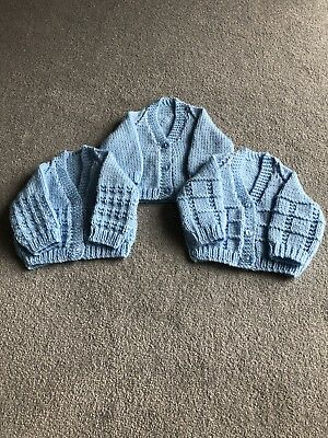 5796ee40e THREE HAND KNITTED baby matinee Coats cardigan. Proceeds To Cancer ...