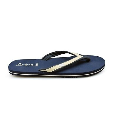 68e2e70b107f2f Animal® Swish Slim Blue Women s Black Flip Flops Sandals. Brand New on Sale