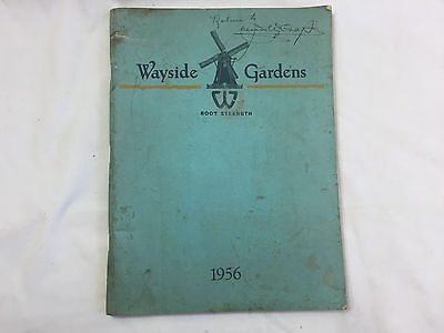 Vntg 1956 WAYSIDE GARDENS PRODUCT CATALOG nursery plants FLOWERS TREES PERENNIAL
