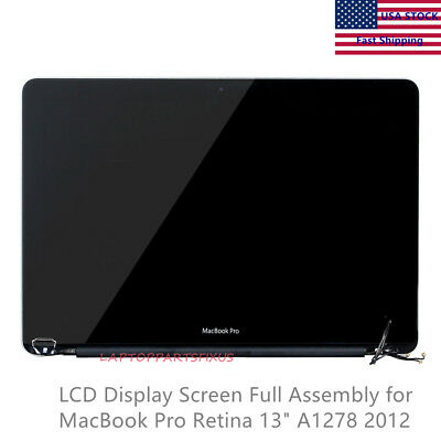"LCD Screen Full Assembly Replacement For MacBook Pro 13"" A1278 2012 661-6594"