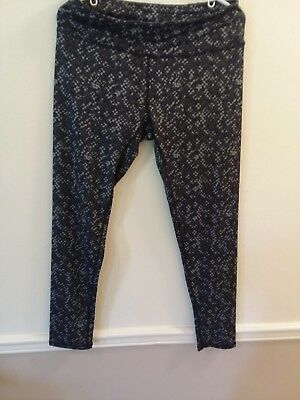 RBX size large womens athletic pants long black and gray multi color