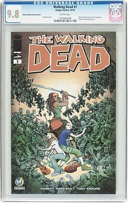 walking dead 1 wizard edition variant. cgc.9.8