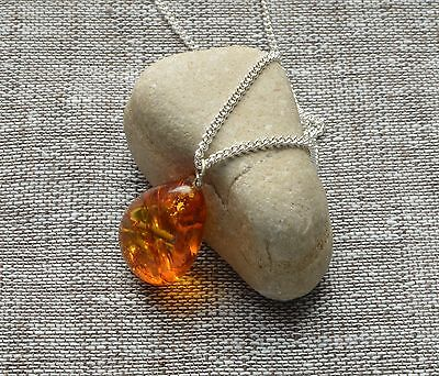 3,6 gr Genuine Batural Antique Baltic Amber Egg Yolk Butterscotch Pendant Cognac