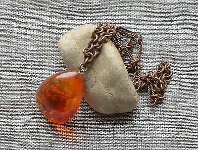 8.3 gr Genuine Natural Vintage Baltic Amber Pendant Cognac Egg Yolk Butterscotch