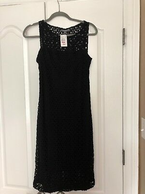 A Pea In The Pod Black Sleeveless Maternity Dress Small New With Tags