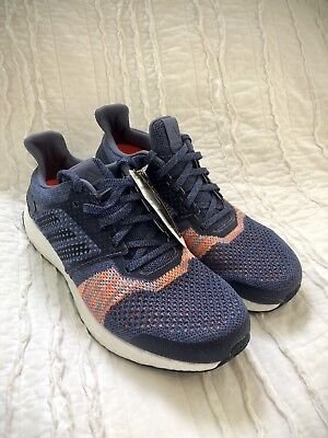 info for a24ce 739a3 Women s Adidas UltraBOOST ST Running Shoes CQ2133 Size 9.5 Boost Indigo  Orange