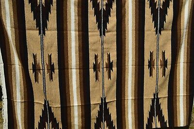 "Mexican Blanket JUMBO Chief ""  NATURAL ""  XXL 90x60 Handwoven Throw Tribal"