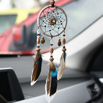 Handmade Dream Catcher with Feather Wall or Car Hanging Decoration Ornament S