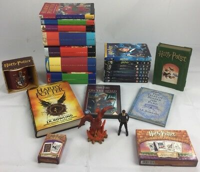 Full complete set Harry Potter hardback books Dvds With Extras Huge Bundle