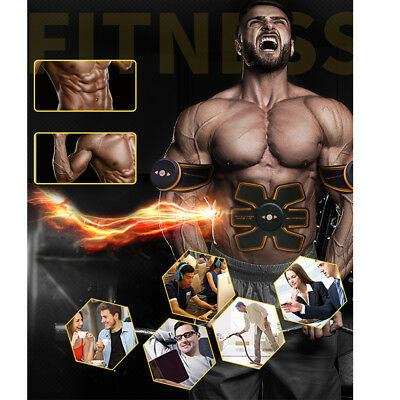 Rechargeable ABS Simulator EMS Training  Body Abdominal Muscle Exerciser L3B2O