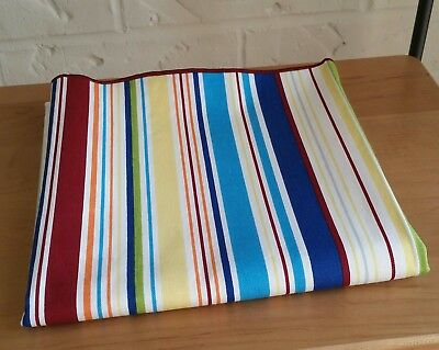 "Longaberger Sunny Day Stripe 36"" Fabric/Table Square Brand New!"