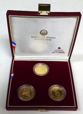 Yugoslavia Gold 5000 Dinar 1984 Winter Olympic Games 3 pc. Gold Proof Set