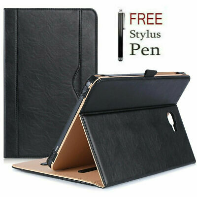 Genuine Leather Stand Folio Case Cover For Samsung Galaxy Tab A6 10.1 T580 2016