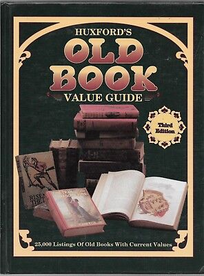 Huxford's Old Book Value Guide book-Third Edition- w/out dj--1991-408 pages