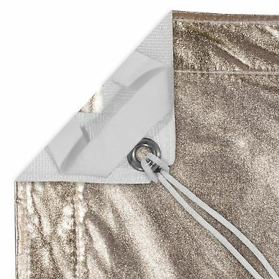 8' x 8' GOLD/WHITE LAME WITH BAG