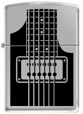 Zippo Electric Guitar High Polish Chrome Windproof Lighter 24486 RARE