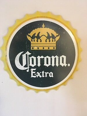 Corona Extra Tin Bottle Cap Sign