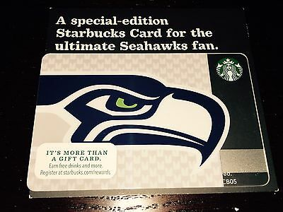 Starbucks Card 2013 SEATTLE SEAHAWKS The ORIGINAL Limited Edition NEW Rare MINT