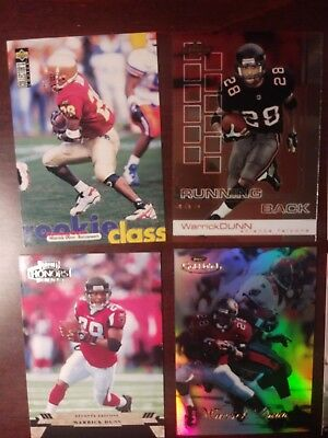 Warrick Dunn and Mike Alstott lot of 34 different cards w/rookies