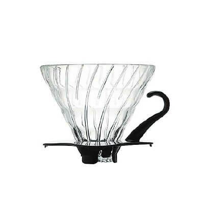 Hario V60 Glass Dripper with Scoop - 1 Cup Black