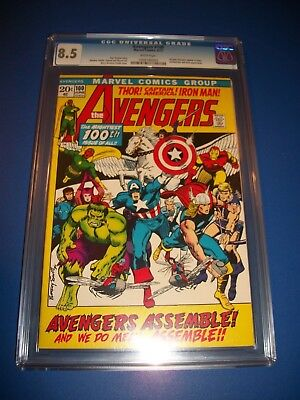 Avengers #100 Bronze Age Barry Smith Every Avengers Ever CGC 8.5 VF+ Gem Wow