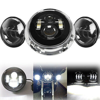 """7"""" Projector Daymaker Headlight Passing Lights Mount Ring for Harley Road King"""