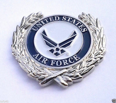 UNITED STATES AIR FORCE SYMBOL WITH WREATH Military Veteran Hat Pin P18054 EE