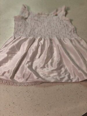 Vintage IC Little Girls Size 6 Lace Nylon Slip Petticoat. 21 Inches Too To Hem