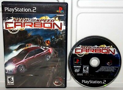 PLAY STATION 2 (PS2) Need for Speed (NFS) Carbon w/ case and book