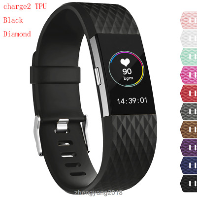 For Fitbit Charge 2 TPU Diamond Replacement Wristband Wrist Strap Watch Band IGK