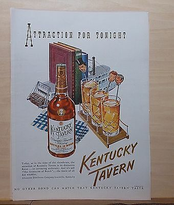 1948 magazine ad for Kentucky Tavern Bourbon  - Riverboat showboat themed ad
