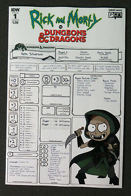 Rick And Morty Vs Dungeons & Dragons #1 2018 IDW ONI press Cover B NM
