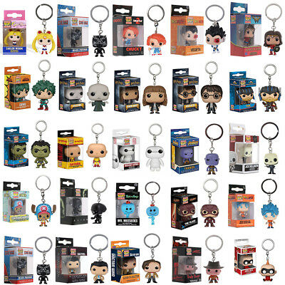 Funko Pocket Pop! Keychain Groot,Wonder Woman,Superman Goku Vinyl Figure Keyring