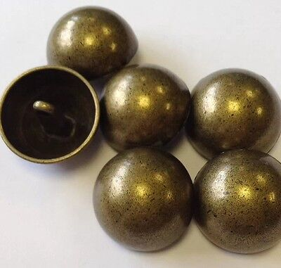 Bronze Buttons 15mm X 10 Real Metal Antique Vintage Style Tarnished Brass
