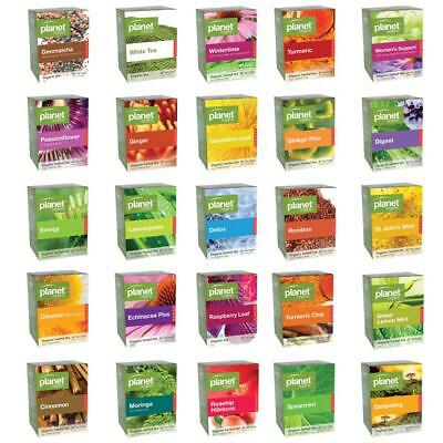 Planet Organic Certified Organic Tea Exotic Healthy Herbal 25 Tea Leaf Bags Pack
