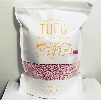 Tofu cat litter 7.5L/3kg x 6 bag / Green tea / peach / natural flavour AU Stock
