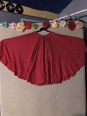 Belly Dance /Flamenco, Full Circle Skirt, Color Red