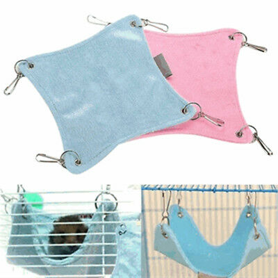 Warm Plush Cloth Hamster Chinchilla Hammock Guinea Pig Rabbit Hanging Bed