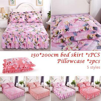 Bed Cover Thickened Protective Quilted Padded Lace Skirt Single Piece Polyester