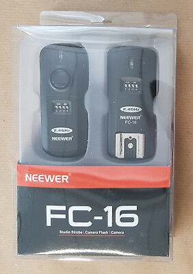 Neewer® FC 16 Multi-Channel 2.4GHz 3-in-1 Wireless Flash Trigger for Studio Flas