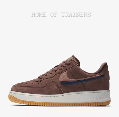 6955c649e49 Nike Air Force 1  07 LX Smokey Mauve Gum Yellow White Girls Women s Trainers